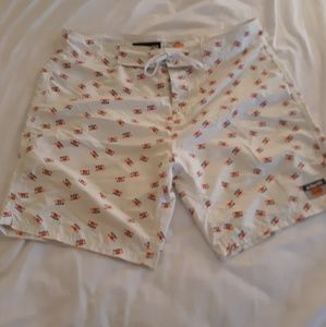 Ambsn Board Shorts size 33 F*ck Yea All Over Print